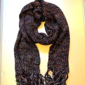 Knitted warm long rectangular stole / scarf/ wrap